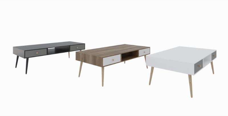 שולחן סלון מודרני דגם נאפולי