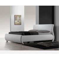 מיטה זוגית מעור אמיתי בעיצוב איטלקי דגם SERENA