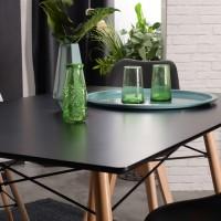 שולחן שחור פינת אוכל מבית HOMAX. דגם לונדון.