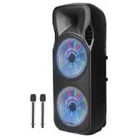 בידורית קריוקי Bluetooth עם תאורת דיסקו ו2 מיקרופונים אלחוטיים Pure Acoustics דגם ZX-1212
