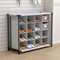 מתקן לנעליים לאחסון מירבי – עם 16 תאים מבית רהיטי דמיר