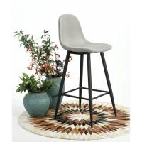 כיסא בר מעוצב בסגנון אלגנטי דגם קרלטון בד מבית HOMAX