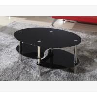 שולחן סלון זכוכית צבע שחור דגם DARK - קניות הוט שופ