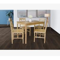 פינת אוכל מעץ מלא ו-4 כסאות דגם FIBI