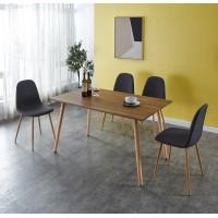 פינת אוכל מעץ דגם JANE כולל 4 כיסאות גארוקס רהיטים.
