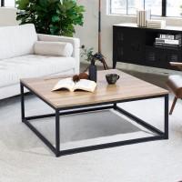 שולחן סלון מרובע פיורי. הומקס חום אלון
