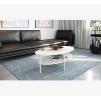 שולחן סלון אורגון  Razco צבע לבן
