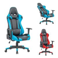 כיסא גיימר דגם מארוול מבית HOMAX מתאים לבית או למשרד צבע שחור משולב כחול