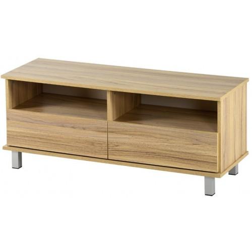 שידת טלויזיה 2 מגירות רהיטי יראון דגם: 509 - צבע אלון