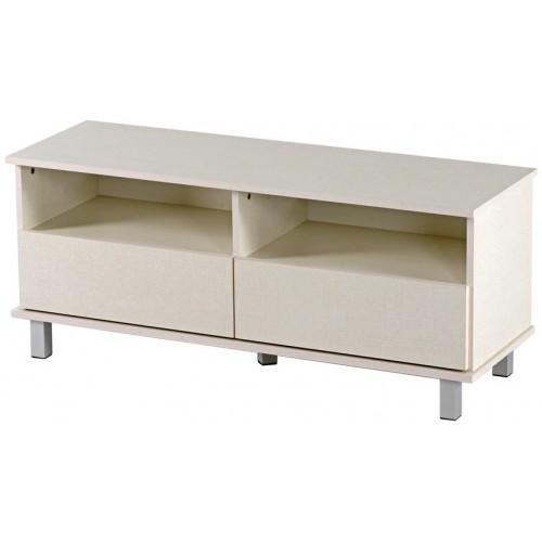 שידת טלויזיה 2 מגירות רהיטי יראון דגם: 509 צבע פשתן.