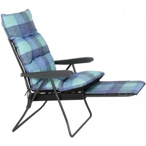 כיסא נוח דגם NAPOLY כחול משובץ