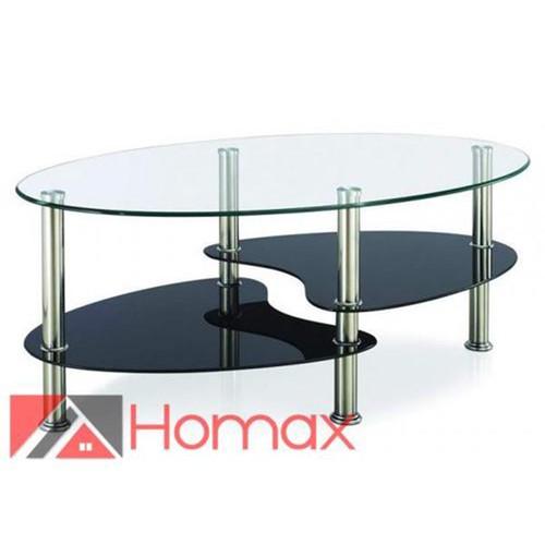 שולחן סלון דו-מדפי מבית Homaxדגם סמפדוריה - צבע שחור