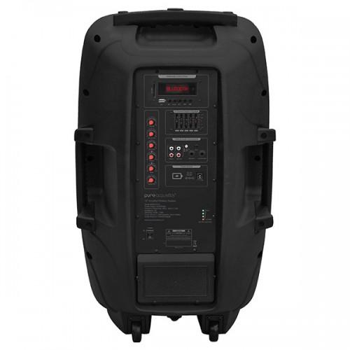 חיבורים אחוריים רמקול נייד מוגבר Pure Acoustics דגםPMW-2012
